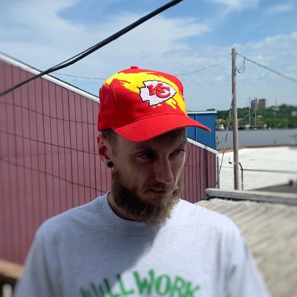 2536a7b3 Kc Chiefs logo Athletic splash hat vintage 90s